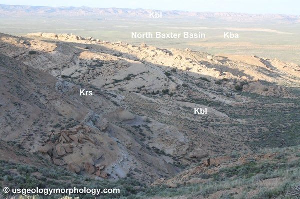 North Baxter basin in Rock Springs uplift, Wyoming