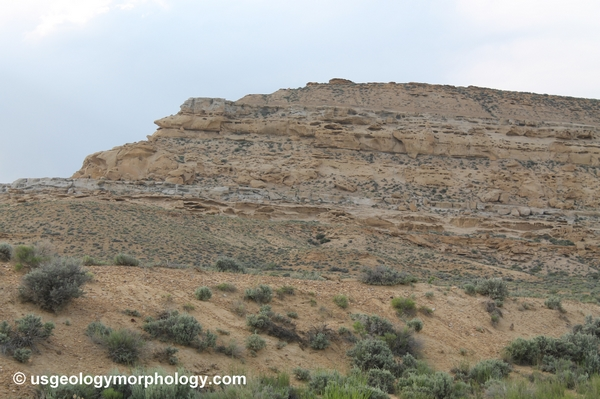 Rock Springs formation near Thayer Junction, Wyoming, on Bitter Creek north bank