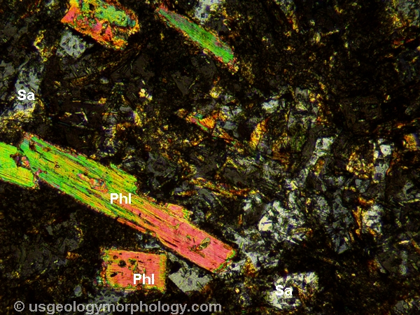 orendite from the Leucite Hills, Wyoming; XPL thin section