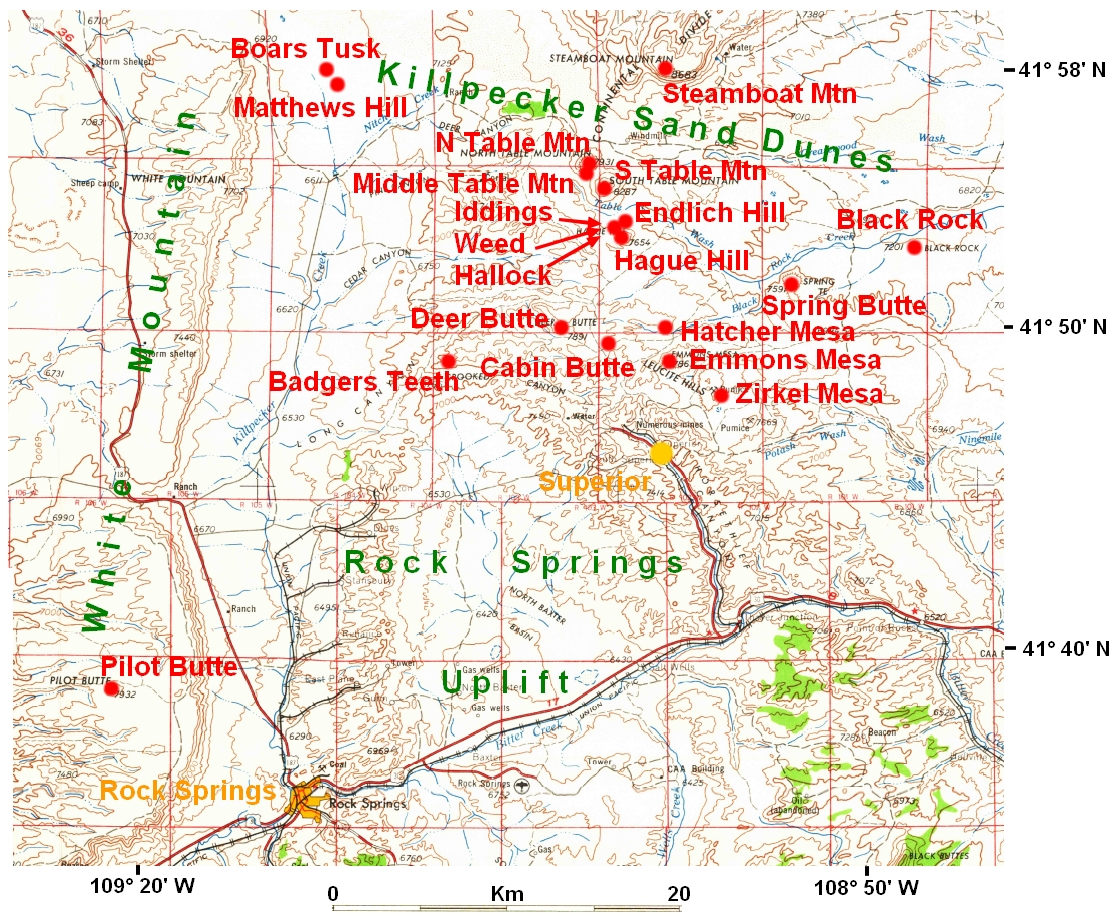 Rock Springs Wyoming Map.Usgg Rock Springs Uplift And Adjacent Areas Page 3
