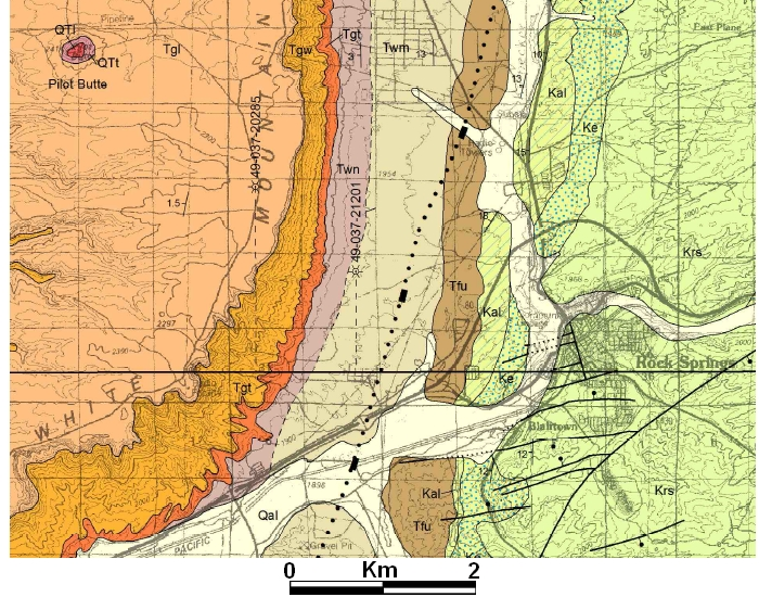 Geologic Map of White Mountain, Wyoming