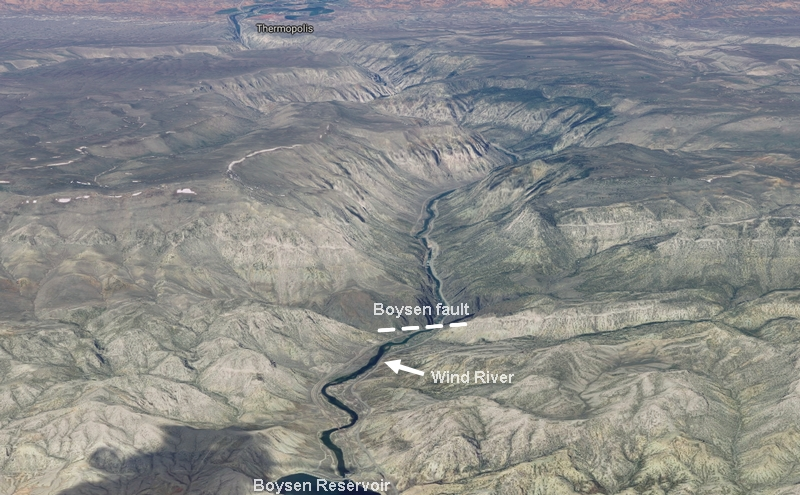 3-D view of Wind River canyon