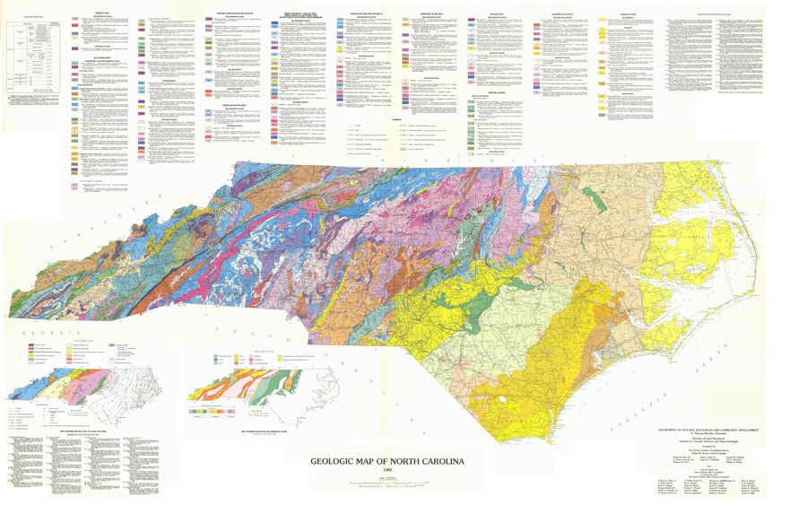 picture about Printable Map of North Carolina Counties named USGG-North Carolina Geologic Map